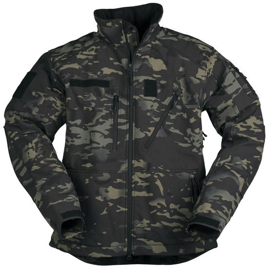 Mil-Tec Softshell Jacket SCU 14 Multitarn Black