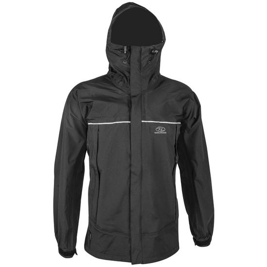 Highlander Typhoon 3 Layer Mountain Jacket Black