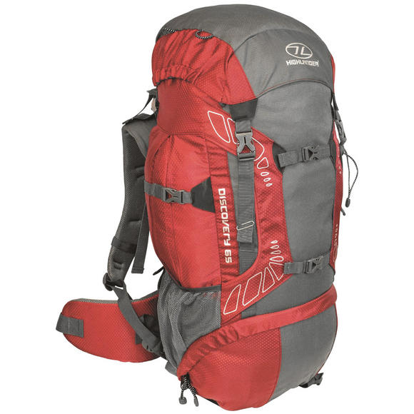 Highlander Discovery 65 Rucksack Red