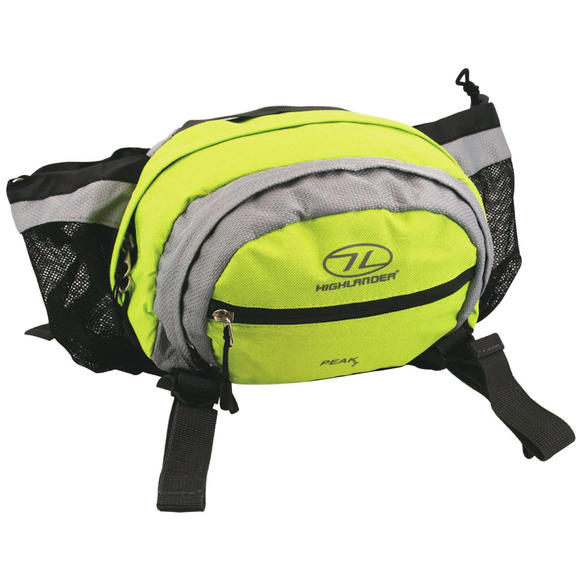 Highlander Peak 7 Waist Pouch Lime Green