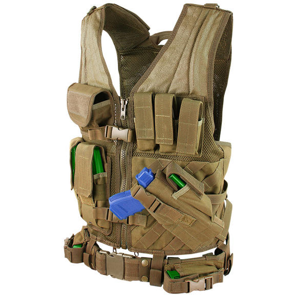 Condor Crossdraw Vest Coyote Brown