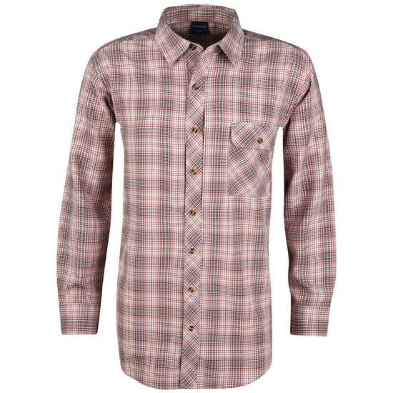 Propper Covert Button-Up Long Sleeve Barn Red Plaid