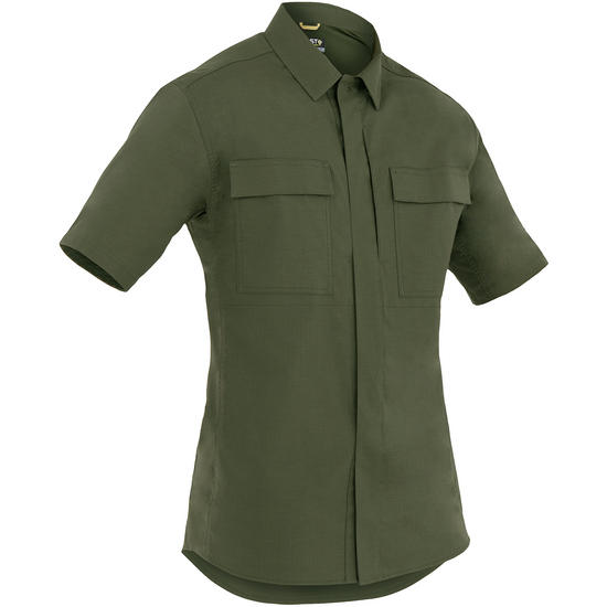 First Tactical Men's Tactix Short Sleeve BDU Shirt OD Green