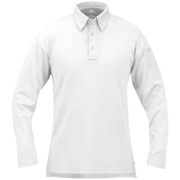 Propper I.C.E. Men's Performance Long Sleeve Polo White