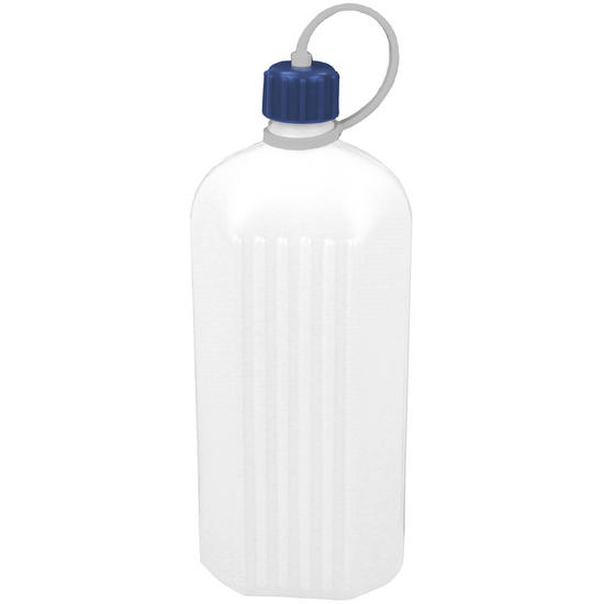 Highlander 1L Poly Octagonal Bottle White
