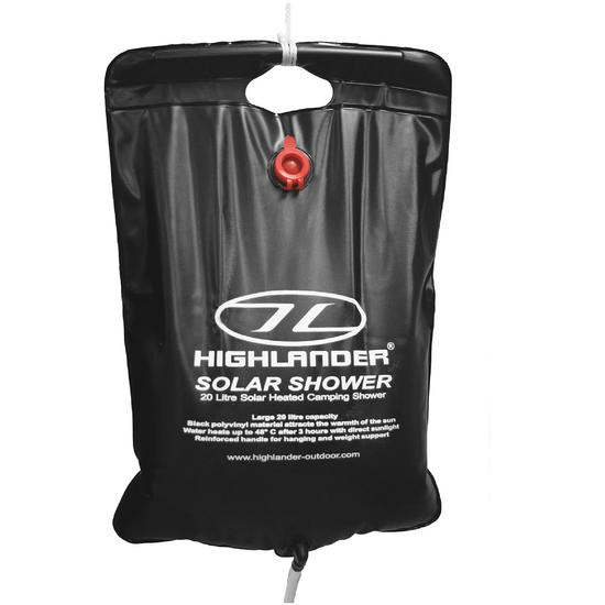Highlander 20L Solar Heated Shower Black