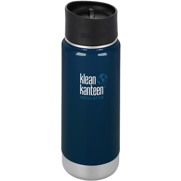 Klean Kanteen Wide Mouth Insulated 473ml Bottle Cafe Cap 2.0 Deep Sea