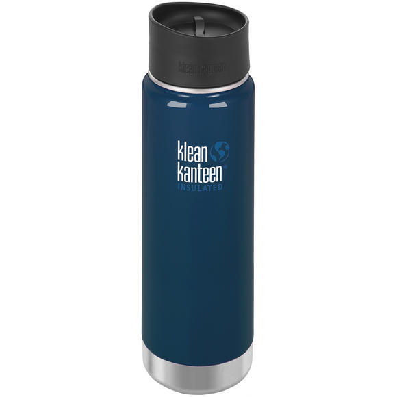 Klean Kanteen Wide Mouth Insulated 592ml Bottle Cafe Cap 2.0 Deep Sea
