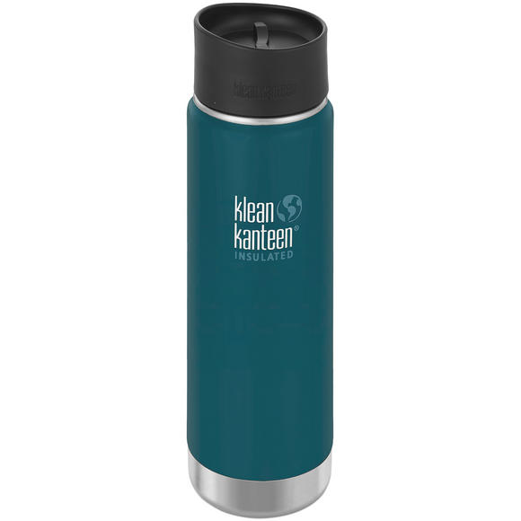 Klean Kanteen Wide Mouth Insulated 592ml Bottle Cafe Cap 2.0 Neptune Blue