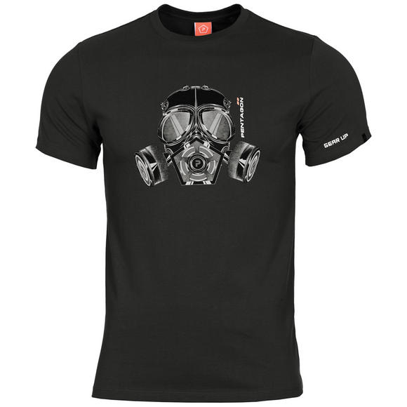Pentagon Ageron T-Shirt Gas Mask Black