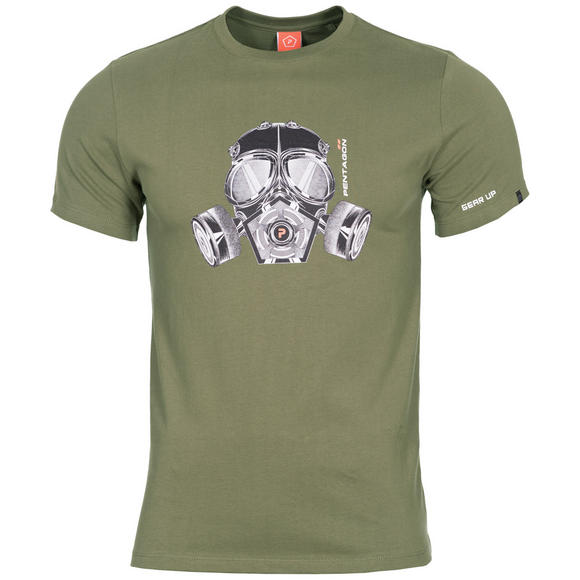 Pentagon Ageron T-Shirt Gas Mask Olive