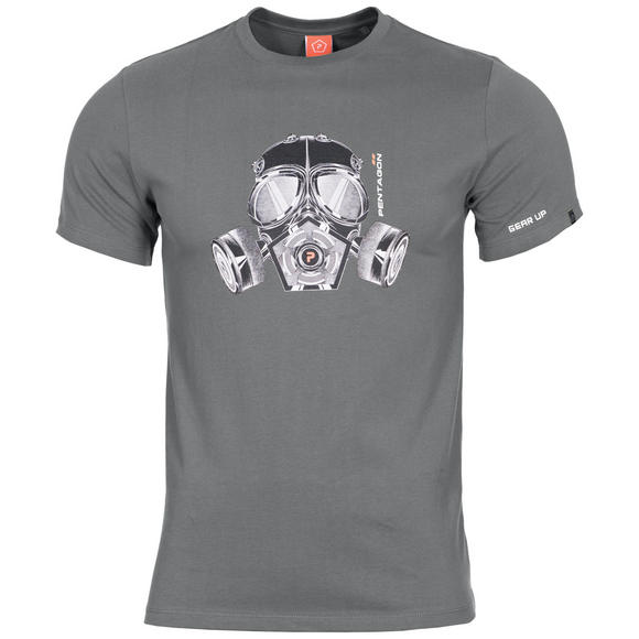 Pentagon Ageron T-Shirt Gas Mask Wolf Gray