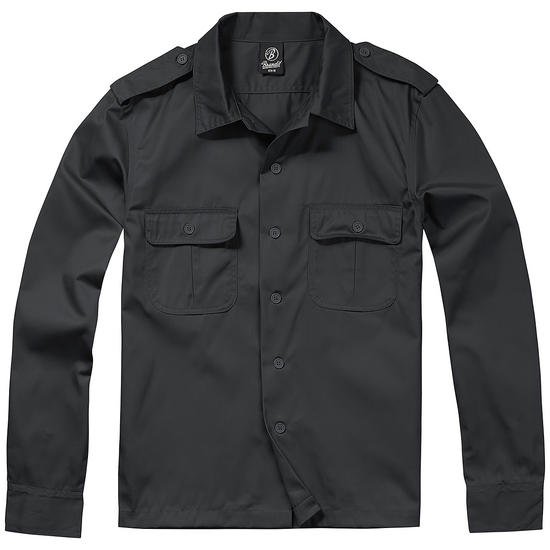 Brandit US Shirt Long Sleeve Black