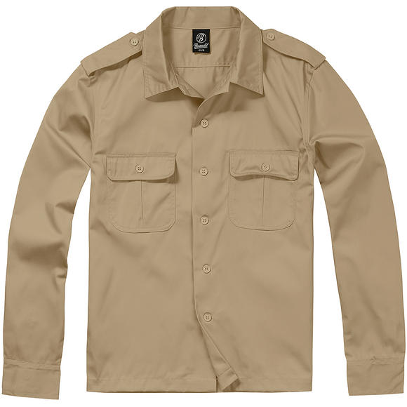 Brandit US Shirt Long Sleeve Beige