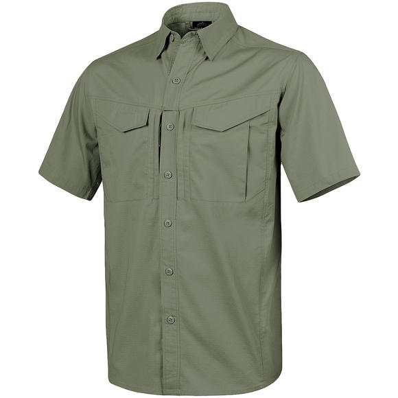 Helikon Defender Mk2 Short Sleeve Shirt Polycotton Ripstop Olive Green