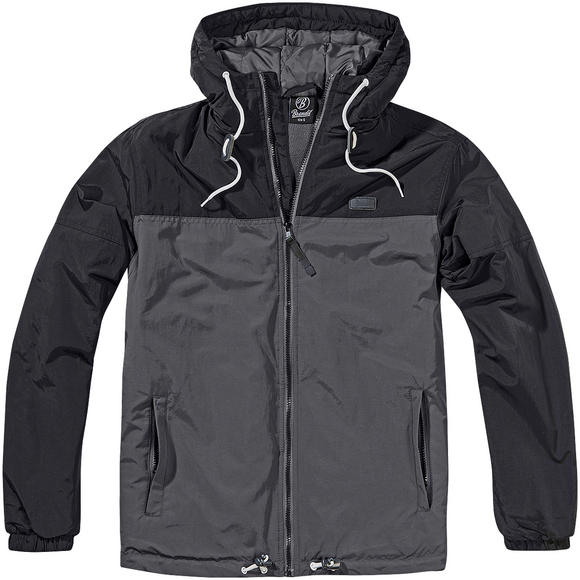 Brandit Harris 2-Color Windbreaker Black/Anthracite