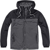 Brandit Harris 2-Colour Windbreaker Black/Anthracite