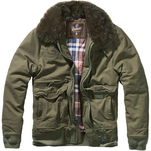 Brandit Perry Moleskin Winter Jacket Olive