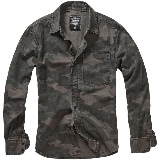 Brandit Josh Shirt Long Sleeve Dark Camo