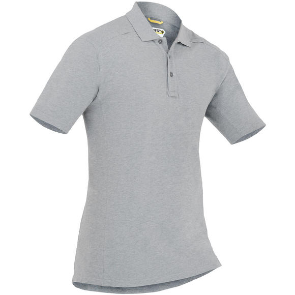 First Tactical Men's Cotton Short Sleeve Polo with Pen Pocket Heather Gray