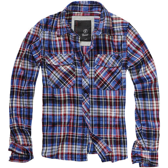 Brandit Flannel FIN Check Shirt Blue / Red / Black