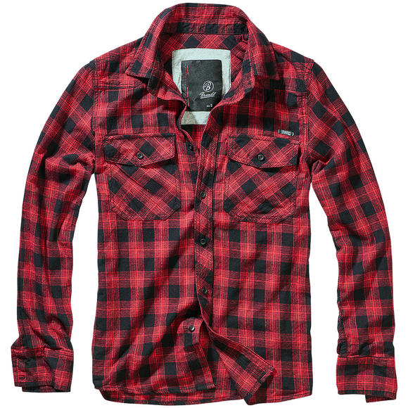 Brandit Great Creek Check Shirt Red / Black Checkered