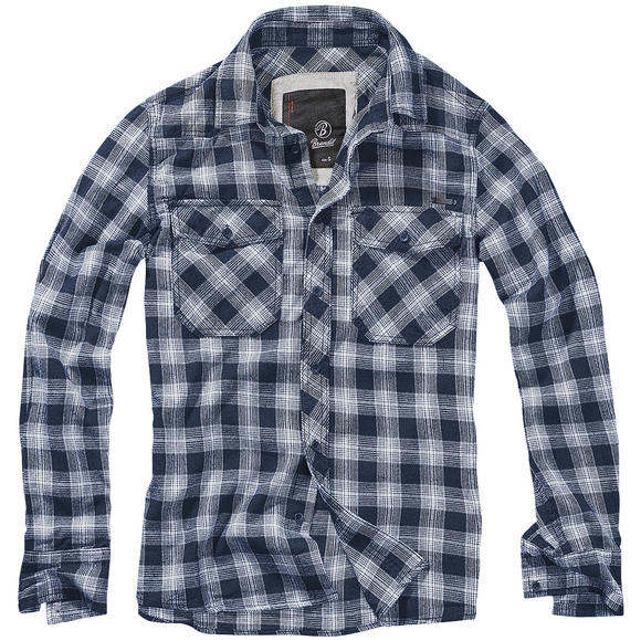 Brandit Great Creek Check Shirt Indigo Checkered