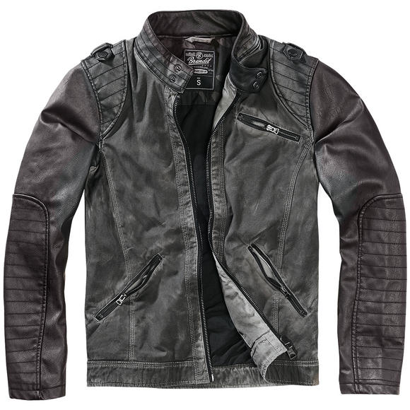 Brandit Brent CO-PU Jacket Anthracite / Black