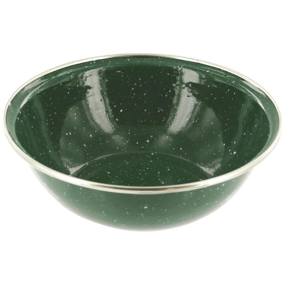 Highlander Deluxe Enamel Bowl Green