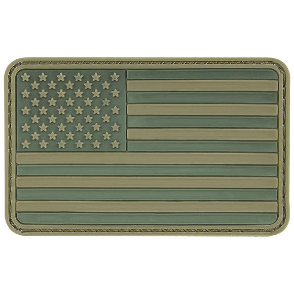 MFH USA 3D Velcro Flag Patch Olive
