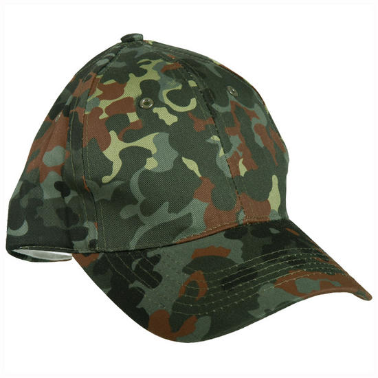 Mil-Tec Baseball Cap with Plastic Band Flecktarn