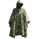 Waterproof Poncho Ripstop Woodland
