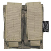 MFH Double 9mm Magazine Pouch Small MOLLE HDT Camo AU