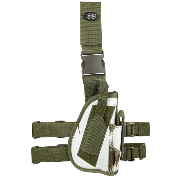 MFH Right Leg Holster Winter Camo