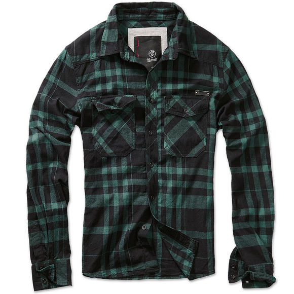 Brandit Check Shirt Fred Black / Green