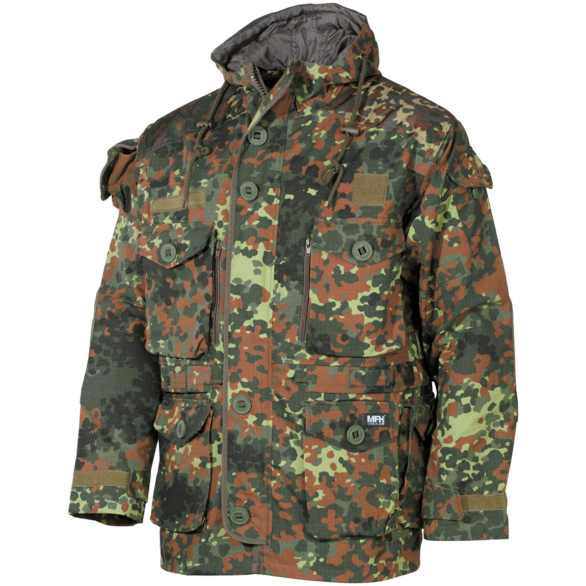 Mfh Commando Jacket Smock Flecktarn Parka Military 1st