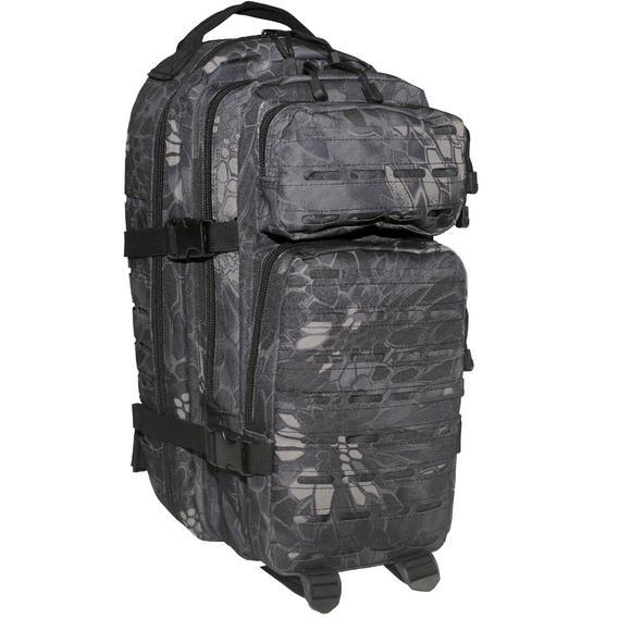 MFH Backpack Assault I Laser Snake Black
