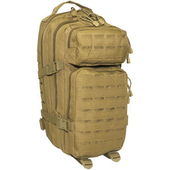 MFH Backpack Assault I Laser Coyote Tan