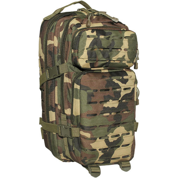 MFH Backpack Assault I Laser Woodland