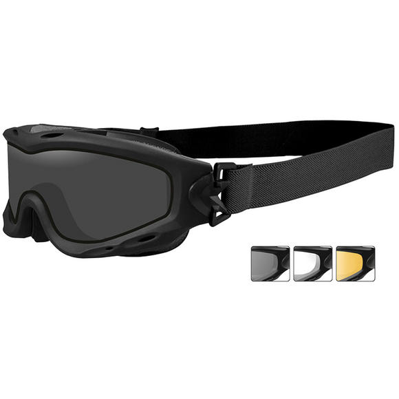 Wiley X Spear Goggles - Dual Smoke Gray + Clear + Light Rust Lens / Matte Black Frame