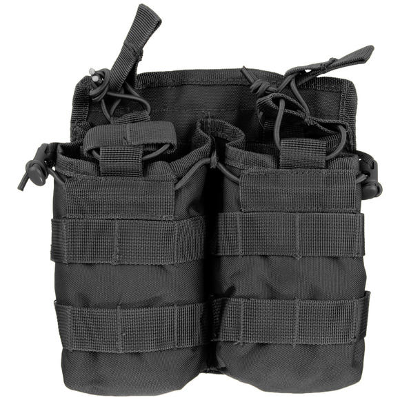 Mil-Tec Open Top Double Mag Pouch Black
