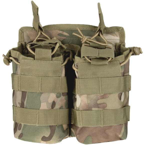 Mil-Tec Open Top Double Mag Pouch Multitarn