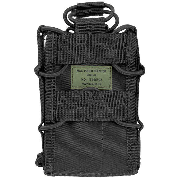 Mil-Tec Open Top Single Mag Pouch Black