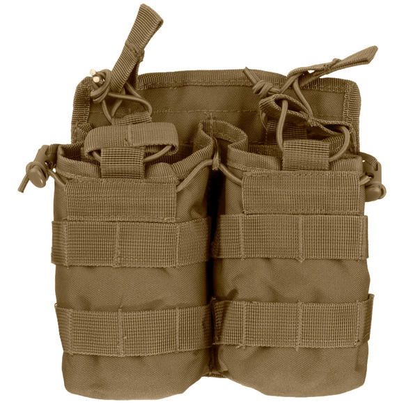 Mil-Tec Open Top Double Mag Pouch Dark Coyote