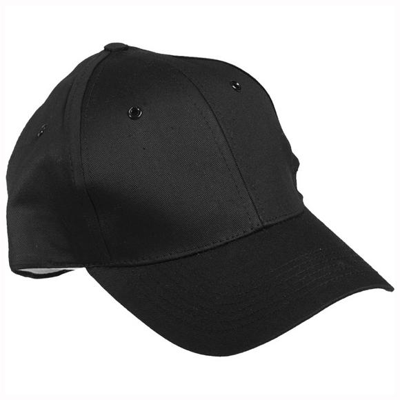 Mil-Tec Baseball Cap with Plastic Band Black
