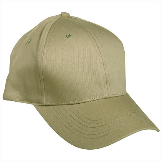 Mil-Tec Baseball Cap with Plastic Band Khaki