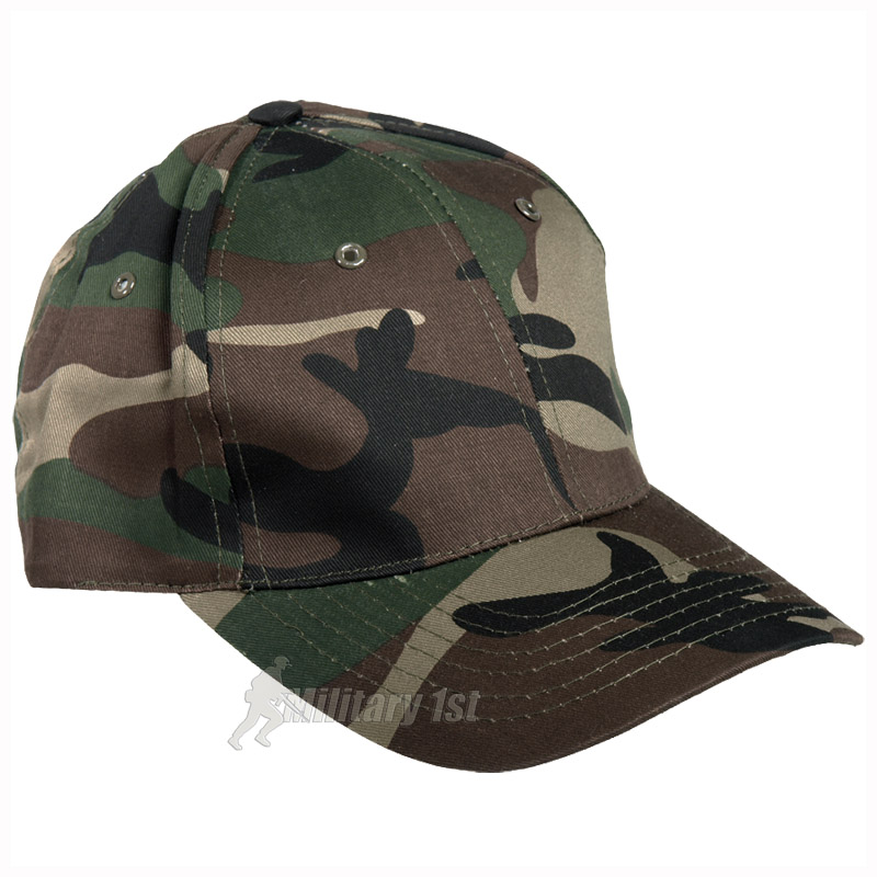 fishing baseball cap hat woodland camouflage ebay