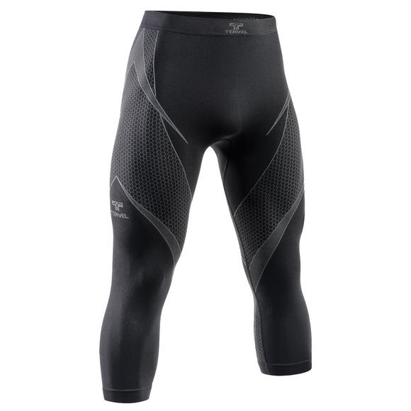 Tervel Optiline Long Bottoms 3/4 Black/Gray