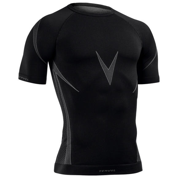 Tervel Optiline Shirt Short Sleeve Black/Gray