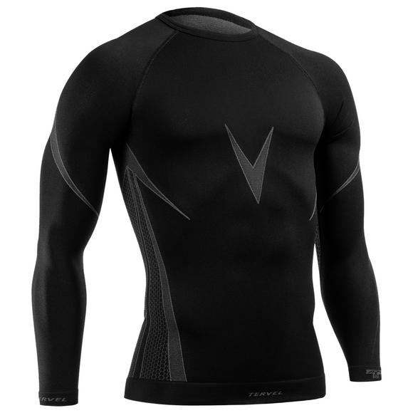 Tervel Optiline Shirt Long Sleeve Black/Gray